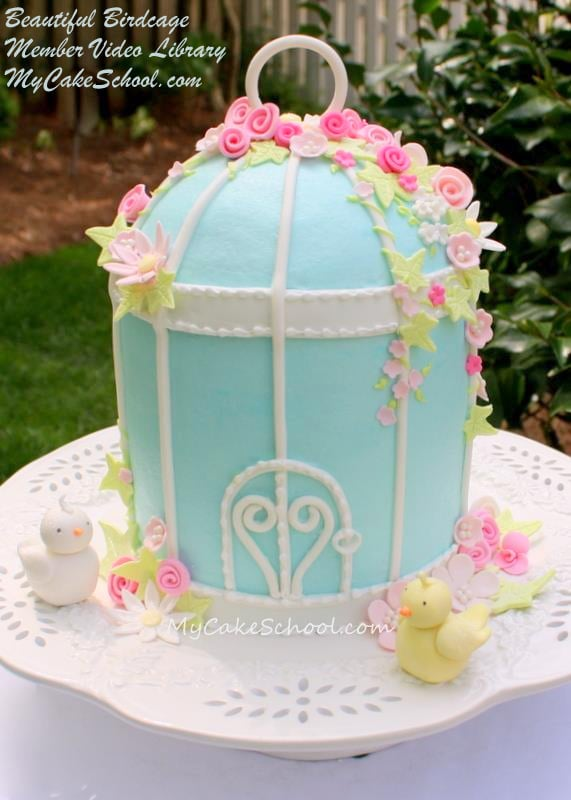 Beautiful Birdcage Cake! A Cake Decorating Video Tutorial by My Cake School!