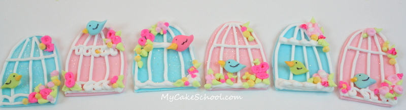 Adorable Birdcage Cupcakes from MyCakeSchool.com's free cake decorating tutorial!
