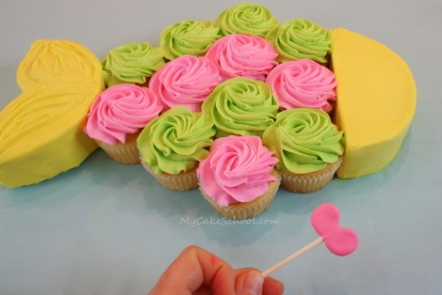 Fish Cupcake Cake Tutorial by MyCakeSchool.com! Perfect for pool or beach themed parties!