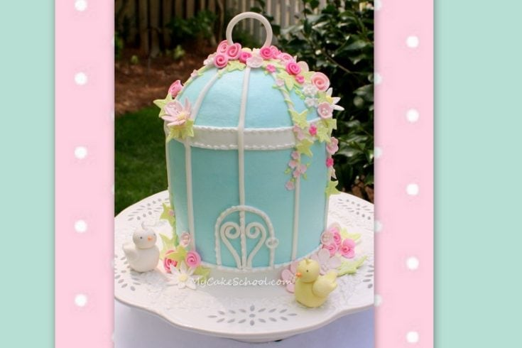 Birdcage Cake - A Cake Decorating Video