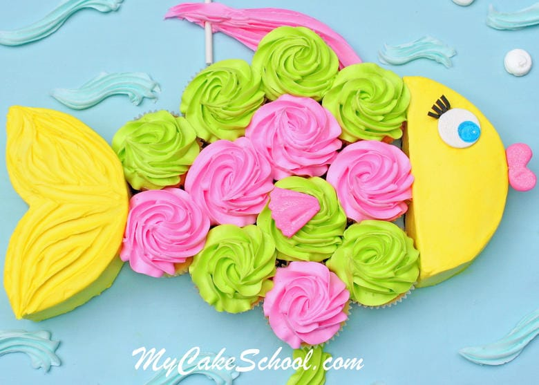 Fish Cupcake Cake!~A Blog Tutorial