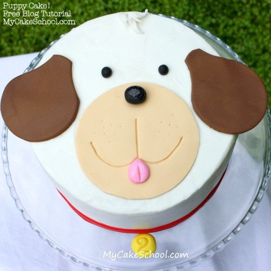 Sweet Puppy Cake Decorating Tutorial by MyCakeSchool.com! Free Step by Step Tutorial. Online Cake Tutorials and Recipes!