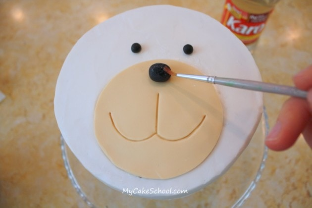 Learn how to make a sweet puppy cake in this free MyCakeSchool.com cake decorating tutorial!