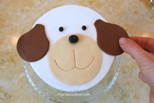 Cute Puppy Cake! Free Cake Tutorial by MyCakeSchool.com! Online cake classes and recipes!
