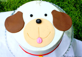 Learn how to make an ADORABLE Puppy Cake in this free cake decorating tutorial by MyCakeSchool.com!