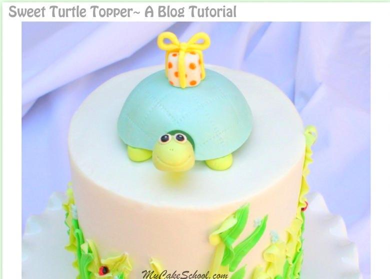 Sweet Turtle Cake Topper- Free Cake Tutorial