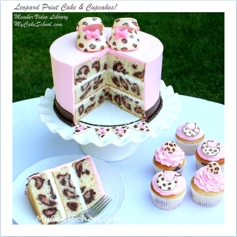 Learn to Make Leopard Print Patterns on the Inside of your Cakes and Cupcakes! My Cake School.