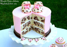 How to Make Leopard Print on the Inside of a Cake! MyCakeSchool.com Online Video Tutorial!