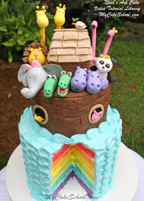 Noah S Ark Cake Video Part 2 Rainbow Cake Amp Ark My