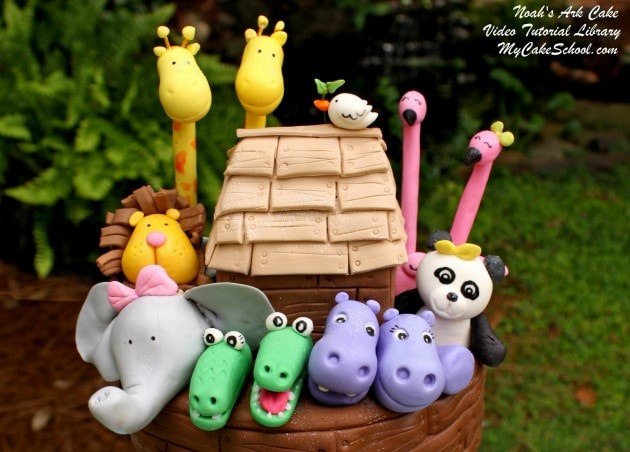 Adorable Noah's Ark Cake Tutorial by MyCakeSchool.com!