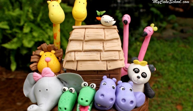 Noah's Ark Cake Video~Part 1~ Making the Animals!