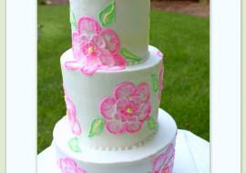 Beautiful Buttercream Brush Embroidery! A Cake Decorating Video Tutorial by MyCakeSchool.com.