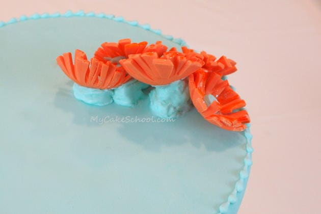 Learn to use a fondant crimper in MyCakeSchool.com's free cake decorating tutorial! {My Cake School Online Cake Classes, Tutorials, & Recipes}