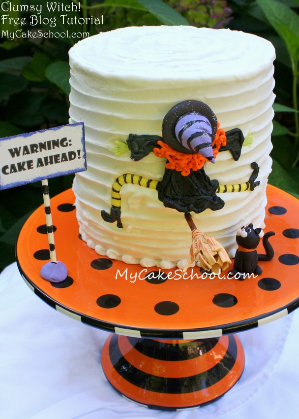 Funny Clumsy Witch Cake Tutorial by MyCakeSchool.com