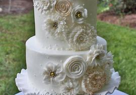 Elegant Cascade of Buttercream Flowers! A My Cake School video tutorial