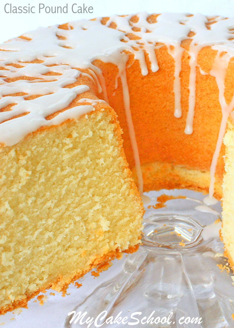 My FAVORITE Classic Pound Cake recipe! You'll LOVE this southern favorite! MyCakeSchool.com Online Cake Decorating Classes & Recipes!