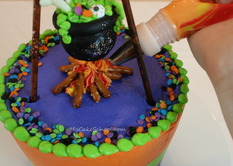 Learn how to make a Cauldron Cake Topper in this free tutorial by MyCakeSchool.com!