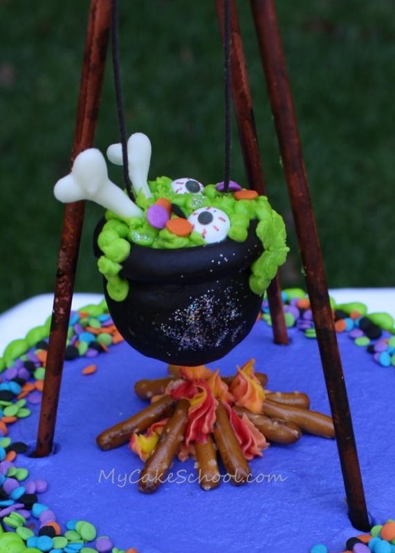 Free Cauldron Cake Topper Tutorial by MyCakeSchool.com!