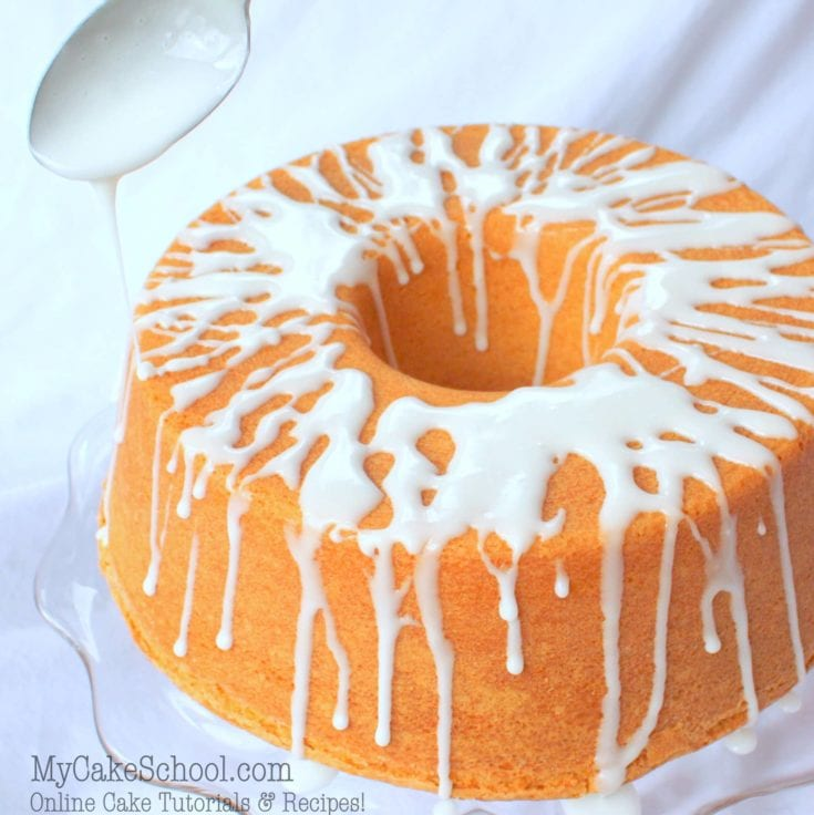 Simple Vanilla Glaze for Pound Cakes