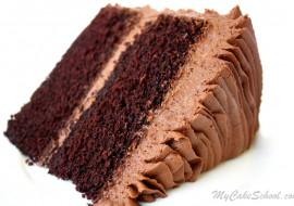 The most DELICIOUS Chocolate Scratch Cake Recipe by MyCakeSchool.com. Online Cake Classes & Recipes!
