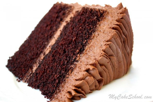 The most DELICIOUS Chocolate Scratch Cake Recipe by MyCakeSchool.com. Online Cake Classes & Recipes!