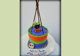 Free Witches Cauldron Cake Topper Tutorial by MyCakeSchool.com!