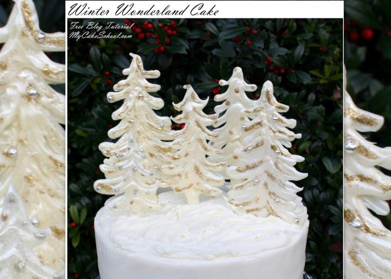 This elegant Winter Wonderland Cake is surprisingly simple to create and is PERFECT for Christmas and winter gatherings! From My Cake School's step by step free cake tutorial!