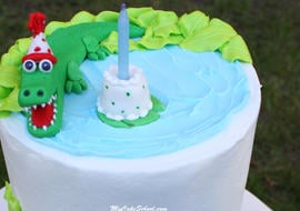 Learn to model adorable Alligators in this free step by step cake tutorial by MyCakeSchool.com!