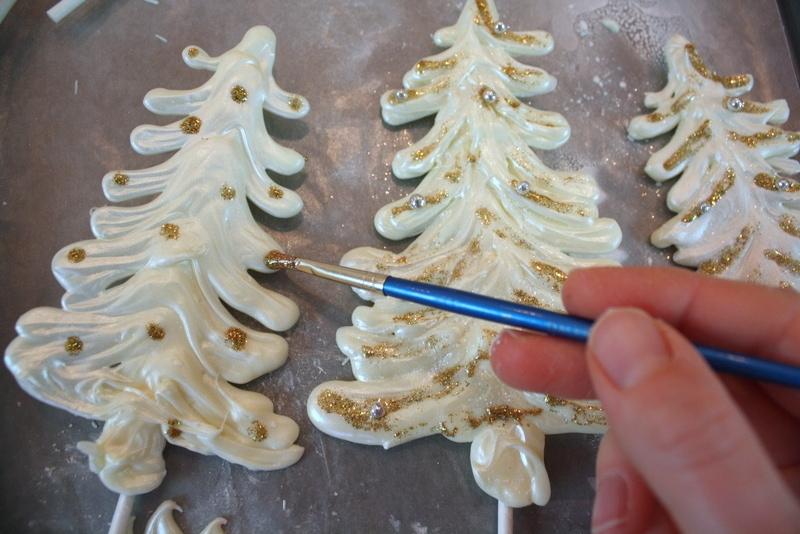 Elegant Winter Wonderland Cake with White Chocolate Trees! Free Cake Tutorial by MyCakeSchool.com!