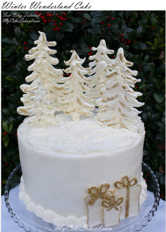 Winter Wonderland Cake Decorating Tutorial by MyCakeSchool.com! This Free Tutorial is perfect for Christmas parties!