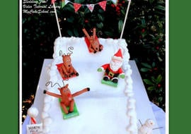 Sledding into Christmas! Learn to make Santa and reindeer toppers as well as a sledding scene in this My Cake School video tutorial!