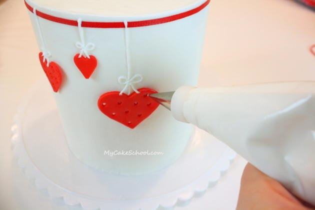 The sweetest Valentine's Day Cake Tutorial by MyCakeSchool.com!