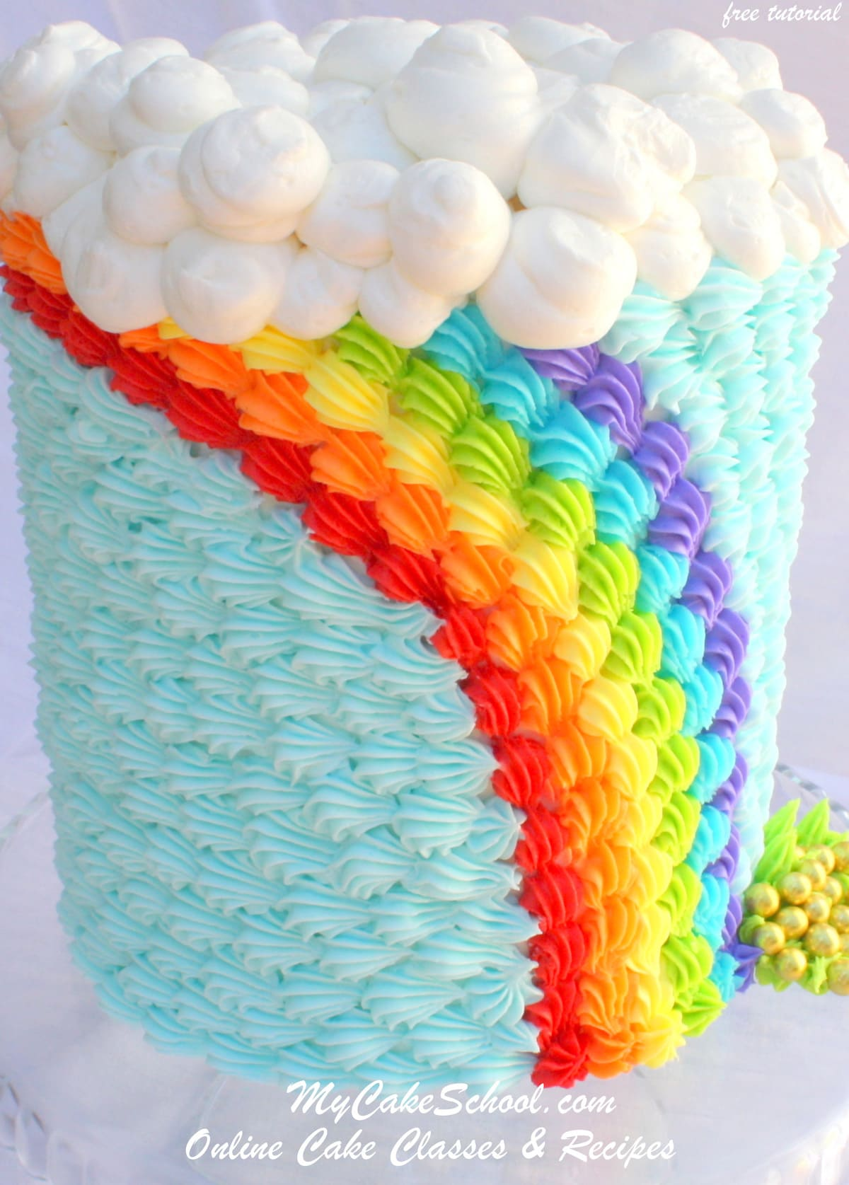 Saint Patrick's Day~ Buttercream Rainbow!~Blog Tutorial ...