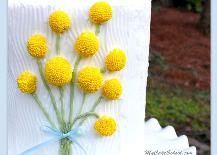 Sweet Bouquet of Billy Balls! Free Cake Tutorial by My Cake School!
