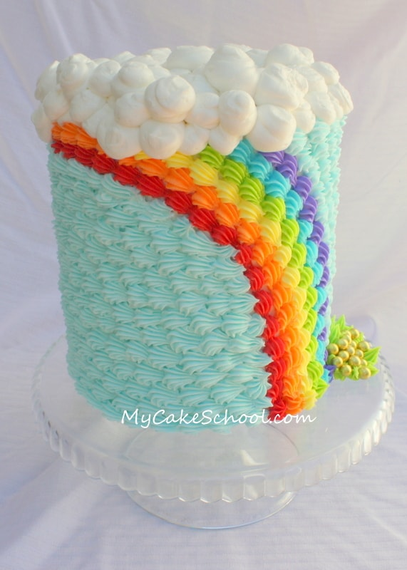 Easy Rainbow Cake Decoration : Saint Patrick s Day~ Buttercream Rainbow!~Blog Tutorial ...