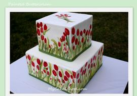 Painting-on-buttercream