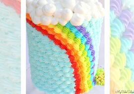Buttercream Rainbow Cake Tutorial