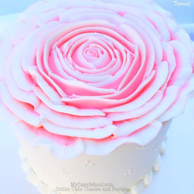 Gorgeous Gigantic Buttercream Rose! Tutorial by MyCakeSchool.com