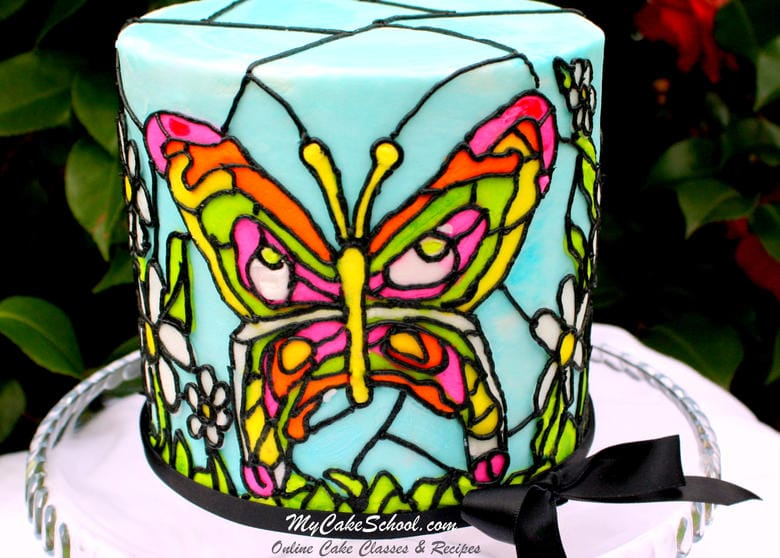 How to Make Stained Glass in Buttercream! From MyCakeSchool.com's Online Cake Video Section.