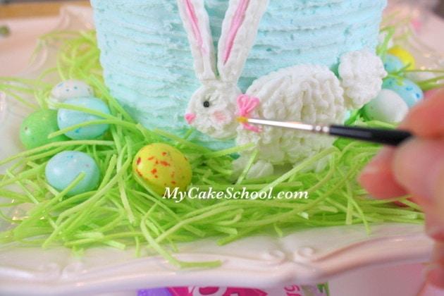 SWEET Buttercream Easter Bunny Cake Decorating Tutorial by MyCakeSchool.com Online Cake Decorating Tutorials & Recipes!