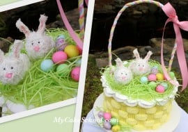 CUTE Easter Basket Cake Design and Buttercream Basketweave Cake Tutorial by MyCakeSchool.com! Online Cake Tutorials and Recipes!