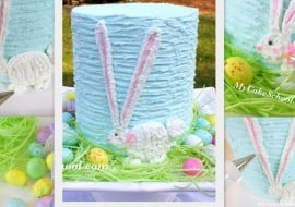 Sweet Buttercream Easter Bunny Cake Tutorial by MyCakeSchool.com! Free Step by Step Cake Tutorial. MyCakeSchool.com Online Cake Tutorials, Cake Recipes, Cake Videos, and more.