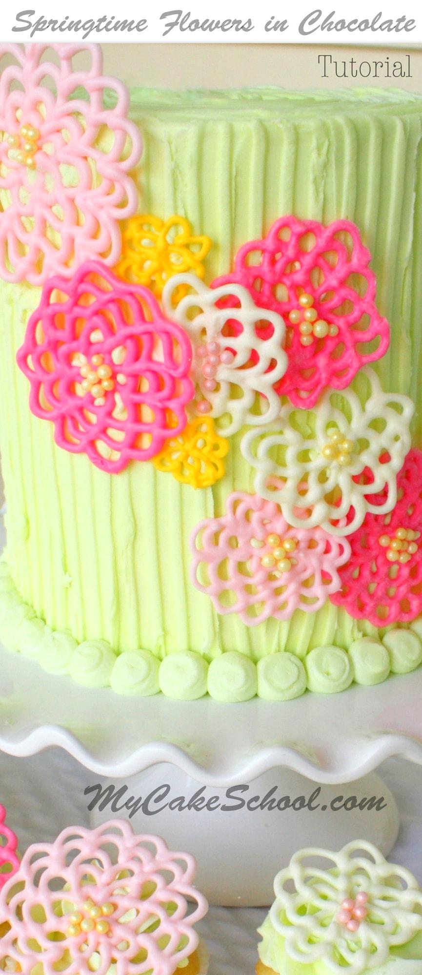 Cake Decorating Chocolate Flowers : Springtime Flowers in Chocolate!~ A Cake Decorating Blog ...