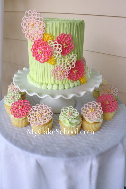 Chocolate Cake Decorated With Flowers : Springtime Flowers in Chocolate!~ A Cake Decorating Blog ...