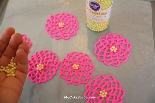 Springtime Flowers in Chocolate~MyCakeSchool.com