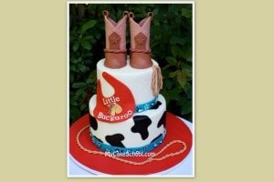 Part Two of our two part western baby shower cake video! In this video ...