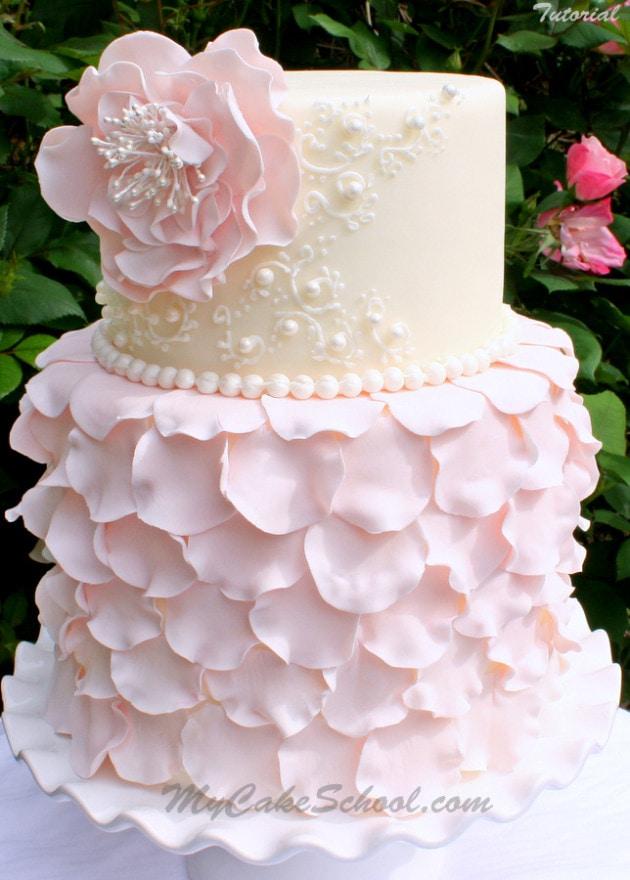 Rose Petal Design Cake