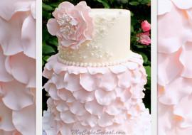 Elegant Fondant Petal Cake- Tutorial by MyCakeSchool.com