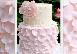 Elegant Fondant Petal Cake Video Tutorial by MyCakeSchool.com!