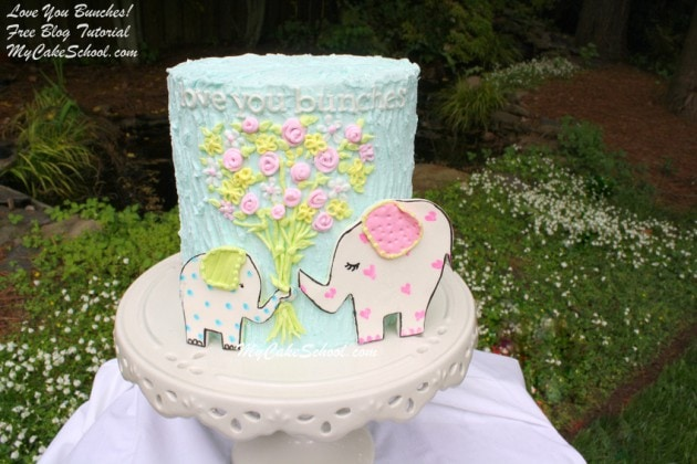 Love You Bunches!  Sweet (free) Tutorial by MyCakeSchool.com!